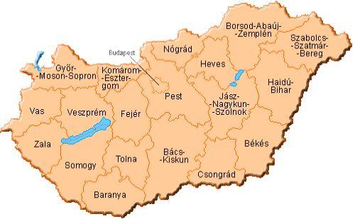 Megyék térképe