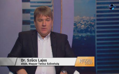 dr. Szűcs Lajos, a Magyar Teniszszövetség elnöke a DIGI Sport stúdiójában